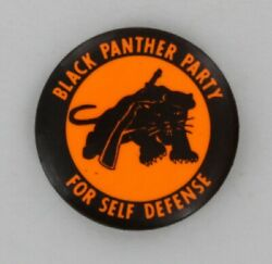 Black Panther Party For Self Defense 1967 Rare 1st Beret Design Button Pin P488 $399.00