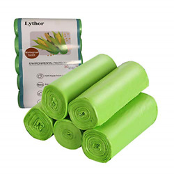 Compostable Trash Bags 2.6 Gallon Small Disposable Compost Bags 150 Count Green $15.69
