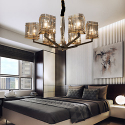 Modern Glass 6 Lights Chandeliers Hanging Pendant Lamp Lighting Ceiling Fixtures $156.74