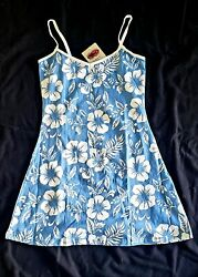 East Coast Surf Wear Light Blue and White Beach Cover Up 100% Cotton $8.99
