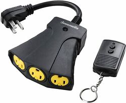 DEWENWILS Outdoor Remote Control Outlet Power Switch Plug Weatherproof HORS13B $16.99