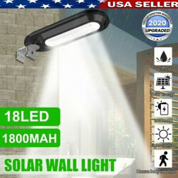 Outdoor Commercial 18 LED Solar Street Light IP55 Waterproof Dawn Wall Lamp US