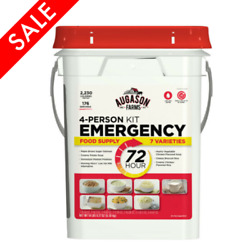 Emergency Food Survival Supply Storage Bucket 4 person 176 Servings Ration Kit $79.99
