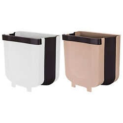 Creative Wall Mounted Folding Waste Bin Kitchen Bin Rubbish Container Box lot UK $20.67