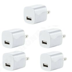 5x White 1A USB Power Adapter AC Home Wall Charger US Plug FOR iPhone 5 6 7 8 X $7.49