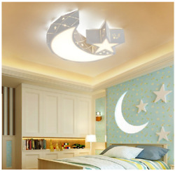 Acrylic Moon Star LED Lights Kids#x27; Room Chandeliers Lighting Ceiling Fixtures $61.37