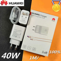 Original Huawei 40W Super Fast Charger Adapter For Mate 10 20 30 Pro P20 P30 Pro $13.98