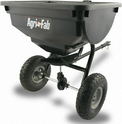 85 Lb Behind Broadcast Spreader Tow Hopper Fertilizer Seed Atv Lawn Tractor Pull $70.44