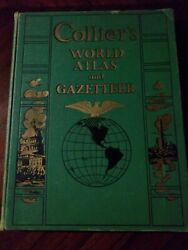 Vintage Collier#x27;s World Atlas and Gazetteer 1942 $28.00