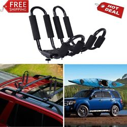 Canoe Boat Mount J Car Top Kayak Roof Rack Carrier Cross Ski Universal 2 Pair $86.29