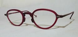 New old stock: l.a. Eyeworks quot;Sagequot; eyeglass Red plastic frames 44 17 135 $17.49