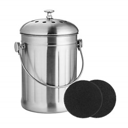 ENLOY Compost Bin Stainless Steel Indoor Compost Bucket for Kitchen Countertop $29.99