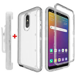 For LG Stylo 5 5V 5x 5 Plus Case Clear Crystal Cover Belt Clip Fits Otterbox $8.99