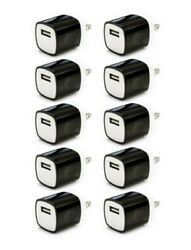 10x Black 1A USB Power Adapter AC Home Wall Charger US Plug FOR iPhone 5 6 7 8 X $11.98