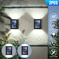 Outdoor Solar 2 LED Deck Lights Path Garden Patio Pathway Stairs Step Fence Lamp $14.48