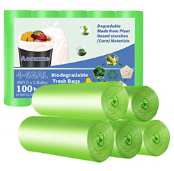 Aocuxze Trash Bags Biodegradable 4 6 Gallon Small Compostable Bags Recycling amp; $12.54