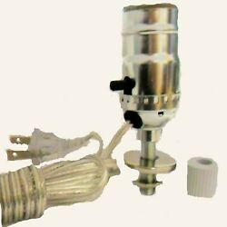 Silver Lamp Kit for Bottle with 1quot; Adaper 8 Ft. Silver Cord $24.95