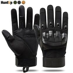 Tactical Gloves Hard Knuckle Full Finger for Paintball Airsoft Hunting Size L XL $11.39