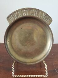 Vintage Brass Pocket Change Trinket Coin Dish Tray and Table Decor $3.99