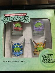 Teenage Mutant Ninja Turtles Glasses Shot Shooters 4 Pack Mini Nickelodeon 2018 $17.99