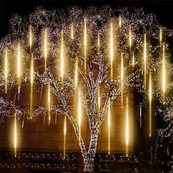 540 LED Meteor Shower Rain Light 10Tube Tree Outdoor Light Xmas Decor Warm White