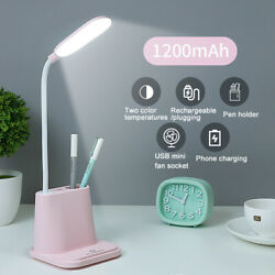 LED Desk Lamp Touch Dimmable USB Rechargeable Adjustment Kid Studying Reading $17.99