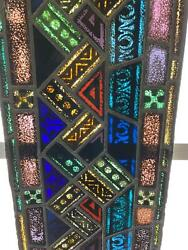 ANTIQUE GERMAN STAINED GLASS CHURCH WINDOW FROM A CLOSED CHURCH X11 $650.00