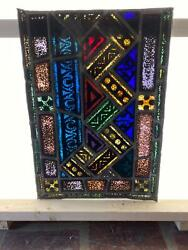 ANTIQUE GERMAN STAINED GLASS CHURCH WINDOW FROM A CLOSED CHURCH X15 $650.00