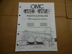 1990 OMC 125 HP commercial parts catalog book manual Johnson Evinrude 433765
