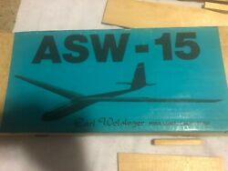vintage rc airplane kit ASW 15 White Earl Wolsleger $225.00
