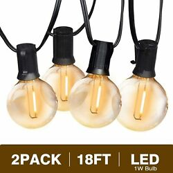 Svater Outdoor String Lights 36FT2Pack 18FT with 10 Hanging Socket10pcs... $39.14