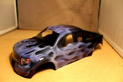 NEW FORD RAPTOR BODY SHELL FOR TRAXXAS MINI E REVO 1 16 AIRBRUSHED PURPLE FIRE $48.00