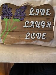 Live Laugh Love Sign Home Decor Great Condition 🌹❤️ $9.99
