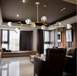Simple And Modern Light Glass Branch Ceiling Lamp LED Chandelier Decorative Lamp $185.99