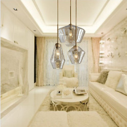 Modern Crystal Chandelier Glass Lampshade LED Ceiling Lamp Decorative Lighting $126.47