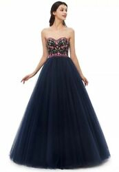 Leyidress Ball Dresses Quinceanera Sweet 16 Prom Embroider Dress Sz 16
