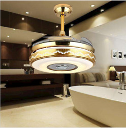42quot;Bluetooth LED Ceiling Fan Light Dimmable Chandelier Music Player Chandelier $168.99