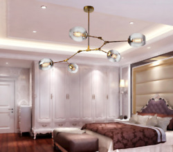 Modern Style Pendant Lamp Glass Lampshade Chandelier 5 7 Lamp Frosted Chandelier $145.99