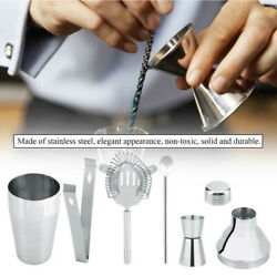 Stainless Steel Cocktail Shaker Drink Bartender MartiniTool Bar Set Kit $15.99