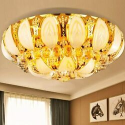 60cm Modern Luxury Crystal Ceiling Lamp LED Chandelier Golden Fixture Lighting $110.66