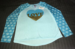 The Childrens Place Girls Long Sleeve Graphic Shirt That Says love Sz 10 12 $6.25
