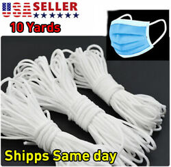 10 Yards 3mm 1 8quot; Round Elastic Band Cord Ear Hanging DIY Sewing For Face Mask $4.00