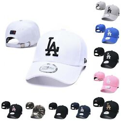 Baseball Cap Adjustable Embroidered LA Los Angeles Latter Sports Hat For Unisex $10.99