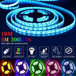 Led Strip Lights 16.4ft 32.8ft RGB Led Lights 5050 Led Color Changing Room Party