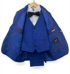 Kids World NEW All Colors amp; Sizes Modern Stylish Boys 5 PC Suits $29.99
