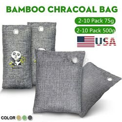2 10 Pack 500g 75g Air Purifying Bag Nature Fresh Charcoal Bamboo Mold Freshener $8.45