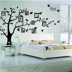 3D DIY Wall Stickers Large Black Tree PVC Family Home decor Removable Stickers $12.99