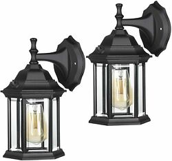 DEWENWILS 2 Pack Outdoor Wall Light Dusk to Dawn Exterior Light Fixtures HOWL06F