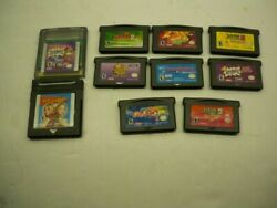 Nintendo Gameboy And Gameboy Advance Games Lot Of 10 Nickelodeon Games $39.00