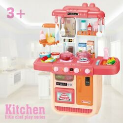 Kids Kitchen Playset Play Kitchen For Toddlers Fun With Friends Kitchen Toy Set $43.99